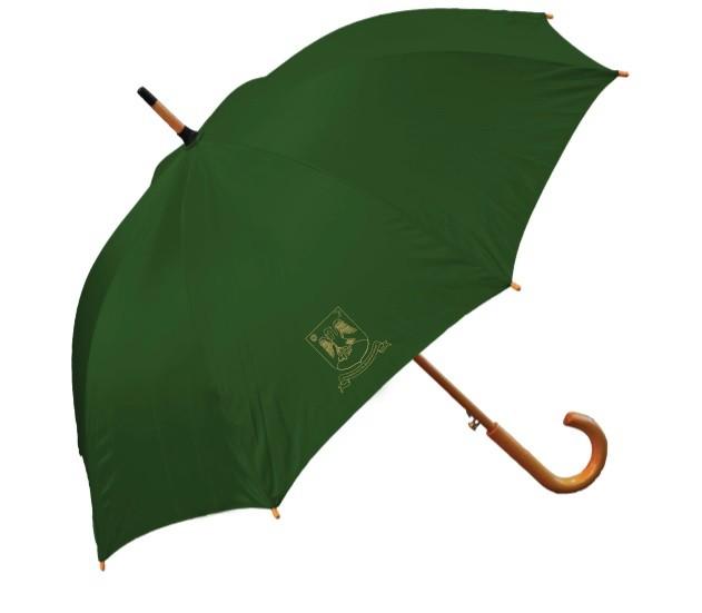 Sötétzöld esernyő