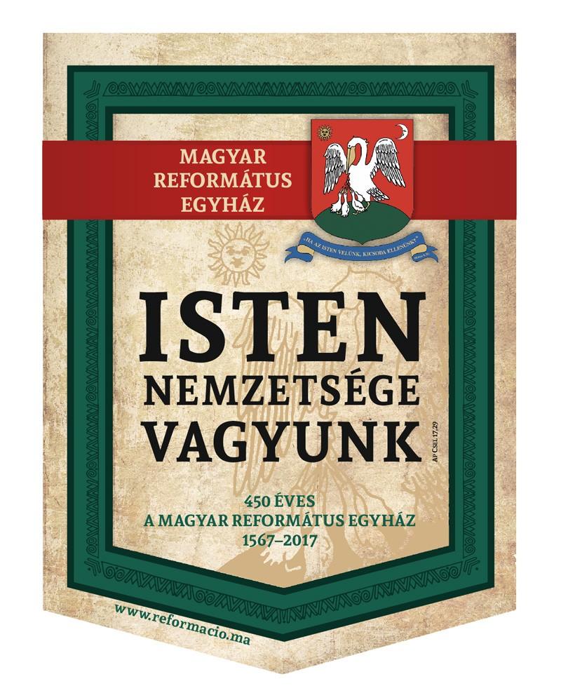 Zászló - 450 éves a Magyar Református Egyház, 32x45 cm